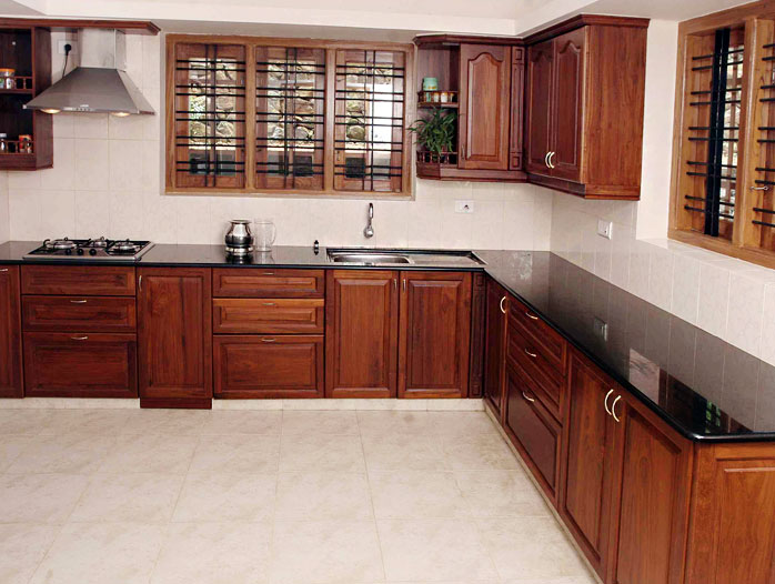 Kitchen gallery kitchen cabinetry velbros modular kitchens for Kerala style kitchen photos